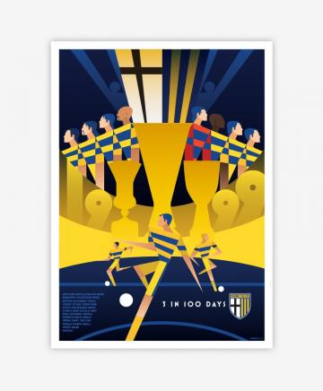 Poster Celebrativo 3coppe in 100 giorni