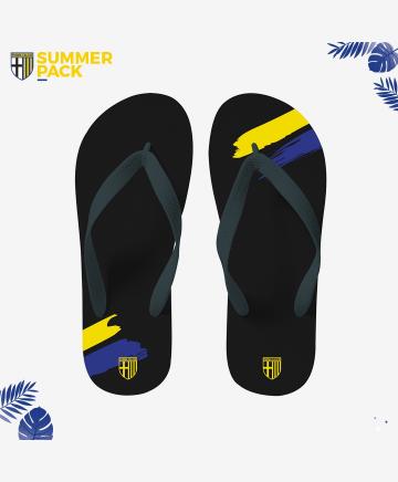 Parma Calcio Black Flip-Flop